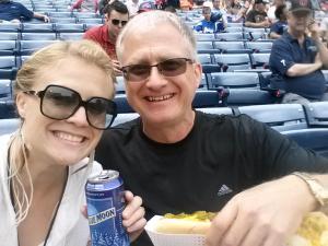 Beer and a Dog at an Atlanta Braves game