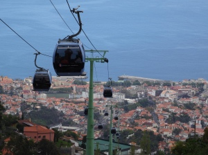 The view from a Cable Car half the way up