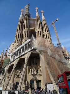 Work being done on the backside of La Sagrada Familia