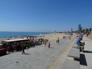 Barcelona Boardwalk and Beach