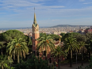 Parc Guell and Gaudi House/Museum with view of Barcelona