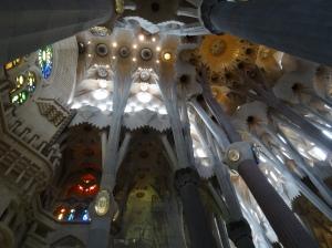 Ceiling view of La Sagrada Familia