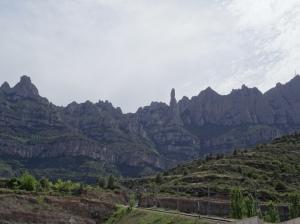 The Montserrat Mountains surrounding the Monastery