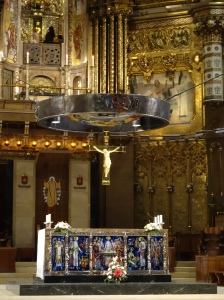 Inside the Basilica at Montserrat