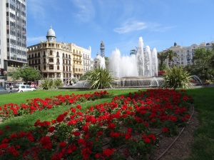 Valencia Plaza just inside the boundaries of the