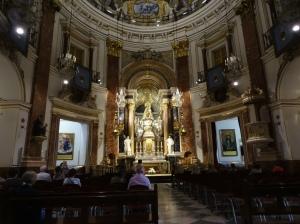 Inside the Basílica de la Virgen de los Desamparados