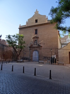 Iglesia de Santa Ursula - The wall to the left of the church is still connected to the