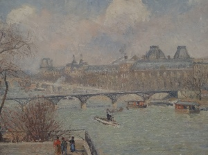 Reina Sofía-Pissarro-1901 The Seine Seen from the Terrace of the Pont-Neuf
