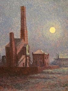 Maximillion Luce – Factory in the Moonlight