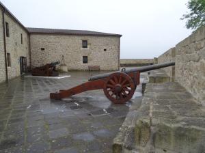 Cannons at Castillo de la Mota on top of Monte Urgull