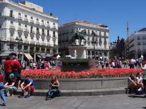 Puerta de Sol - Once a gate to Madrid back in the 15th century.