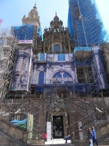 Santiago de Compostela Cathedral - Main Entrance under repair