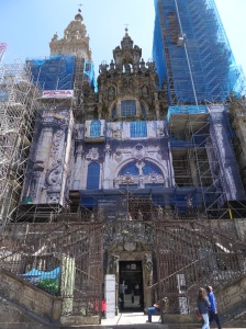 Santiago de Compostela Cathedral - Main Entrance under repair