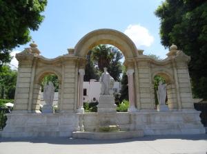 statues plaza don juan de austria