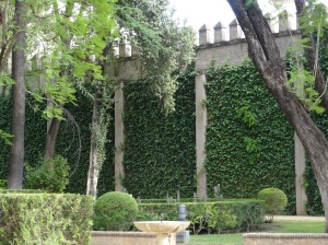 Walls of the Alcazar of Seville, the Royal Palace of Seville