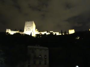 Alcazaba at night