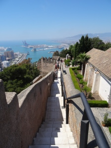 Walking the walls of Castillo de Gibralfaro