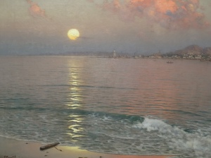 Picture-Guillermo Gomez Gil (1918) – Dusk Over the Coast of Malaga