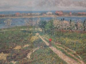 Picture-Dario de Regoyos y Valdes   (1905) – The Almond Tress in Blossom