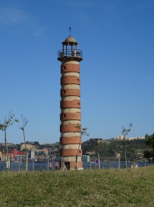 Old Belem lighthouse on Tagus River