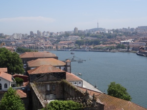 Looking back down the Douro River