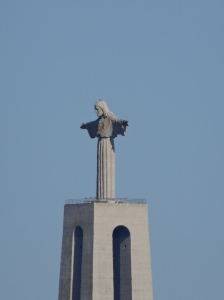 Christ the King statue on the Tagus River hillside