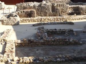 Ruins of the ground floor of the Palacio dos Condes de Santiago